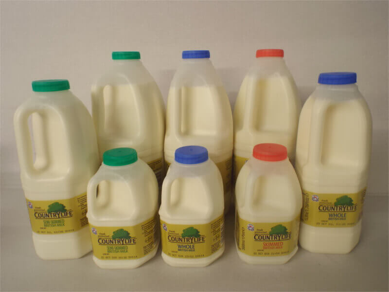 fresh milk in poly carton